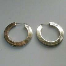 Vintage large Stamped, Signed 925 Mexico Hoop Earrings - $125.00