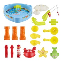 Fishing Plastic Toy Magnetic Kids Toy Fish Pool Battery Operated Toy Wit... - $39.74