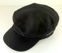 Black Kangol Army Cadet Style Hat Size S/M Small Medium Canvas Ripstop S... - $14.95