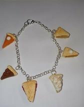 Pie Charm Bracelet Silver Pumpkin Peach Apple Charms Bracelet Dessert - $8.00