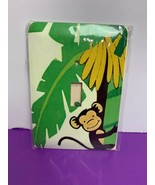 Monkey Jungle Light Switch Plate Cover Steel Metal Hand Made NEW Nursery... - $9.89
