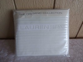 $135.00 Ralph Lauren Lauren SPA Organic Matelasse White Orchid King Sham - $41.83