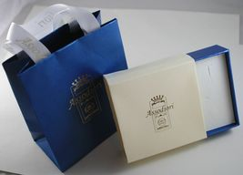 Silber Ohrringe 925 Laminat Gold mit Synthetischen Bernstein und Kristallen image 3