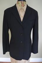 Giorgio Armani Le Collezioni Blazer 6 S Black Women Wool Blend Made in I... - $59.95