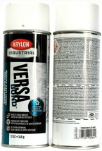 2 Cans Krylon  Industrial Versa Bond K090030000 Flat White Modified Alky... - $17.99