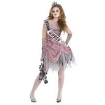 Zom Queen Costume Junior Medium 7 - 9 Zombie Prom - $65.99