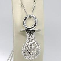 925 Silber Halskette mit Charm Anhänger Schnuller Perforiert und Strickm... - $394.98