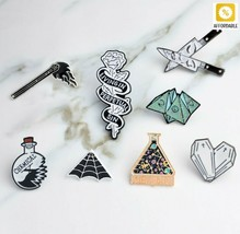 Brooch And Pin Cartoon Enamel Origami Game Heart Coffin Science Chemical... - $6.58