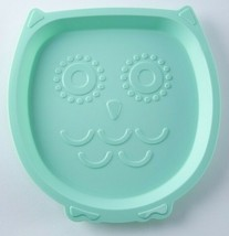 Your Zone Plastic Owl Head Face Shaped Kids Plate Green 9 Inch BPA Free New - $10.88