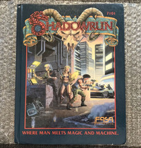 1989 FASA Shadowrun First Edition (Corrected Second Printing) Hardcover HC Book - $118.75