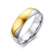Vnox AAA CZ Stones Wedding Rings for Women Men Elegant Gold-color Ring A... - $19.76