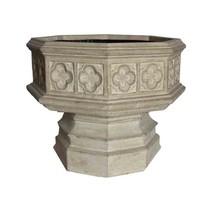 Planter Urn Cast Stone Hexagonal Gothic Lightweight Limestone Outdoor Ga... - €105,47 EUR