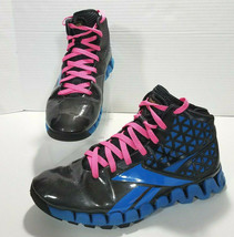 Reebok Zig Tech John Wall High Top Basketball Shoes Mens 12 Black Blue V... - $37.39
