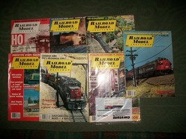 RAILROAD MODEL  7 Vintage Issues  -  Various Years     Lot 805 - $6.93