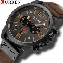 CURREN Mens Watches Top Luxury Brand Waterproof Sport Wrist Watch Chronograph Qu - $33.90