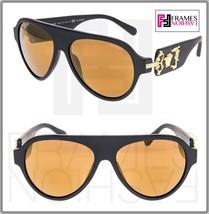 Versace Rock Icon Medusa 4323 Matte Black Gold Mirror Polarized VE4323 Sunglass - $204.93
