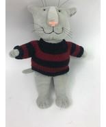 Gund Edward Gorey 43143 Gray Kitty Cat in Red & Blue Sweater Plush Toy D... - $96.74