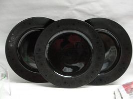 "Three (3) Rosenthal China - Variations Pattern - 11"" Gray Suns Service Plates - $72.95"