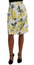 Dolce & Gabbana Lemon Print Fringe Pencil Skirt - $456.88+