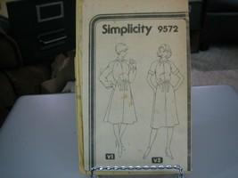 Simplicity 9572 Misses Dress Pattern - Size 12 - $7.91