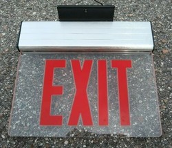 Edge Lit Red LED EXIT Sign Top Mount - $40.27