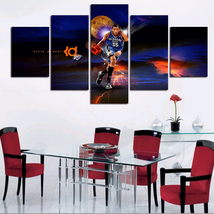 5pcs kevin durant nba superstar printed canvas wall art picture home decor thumb200