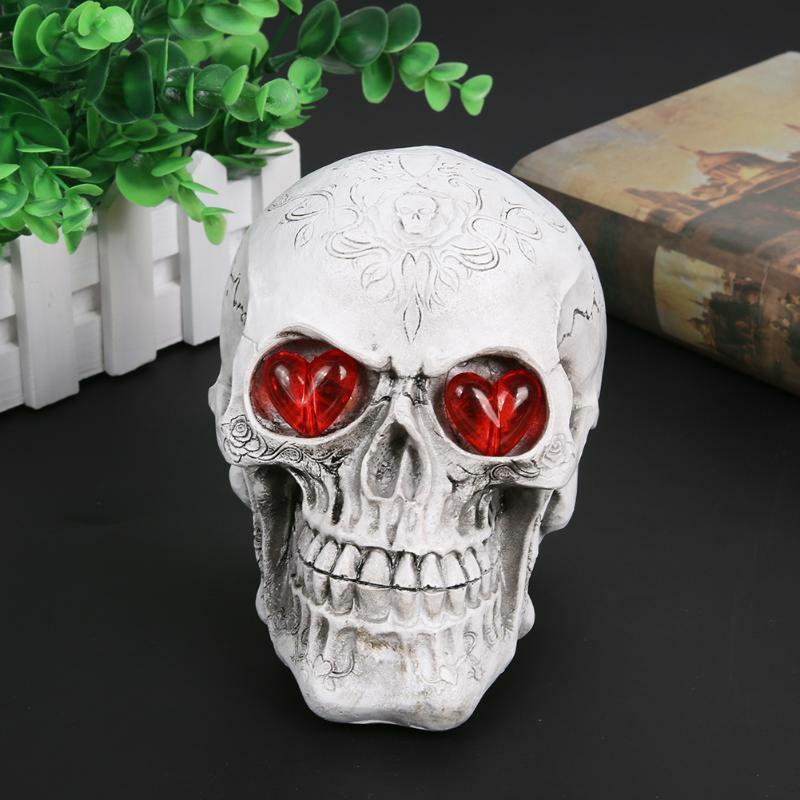 Halloween Decoration Resin Eyes Luminous Skull Halloween Home Decor Pub Decors
