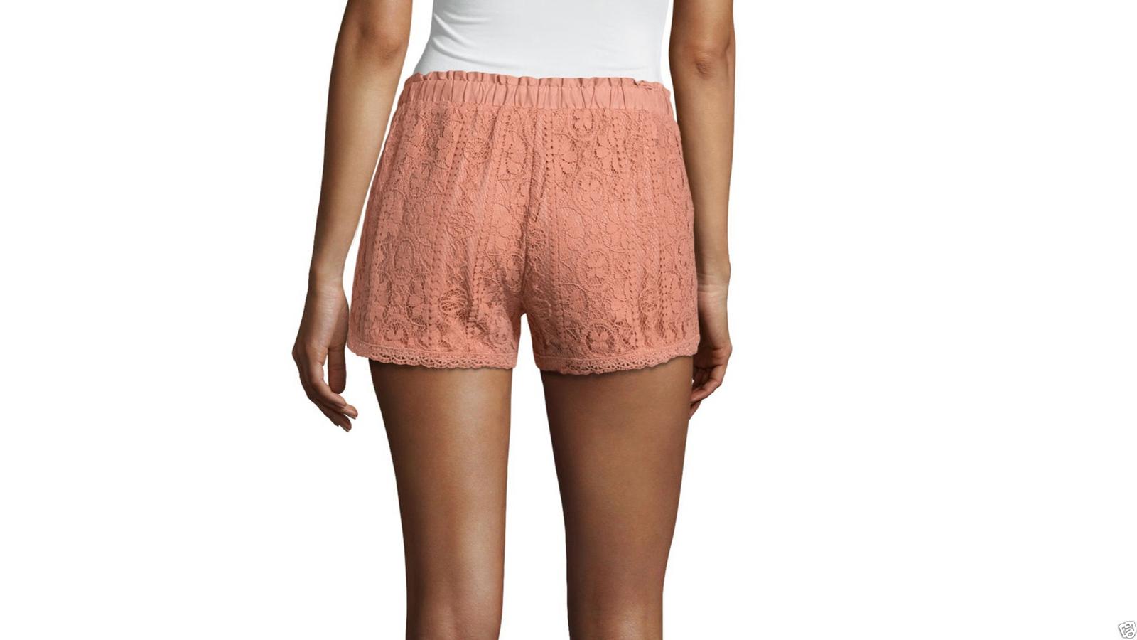 "Rewind 3"" Lace Soft Shorts Juniors Size S, M, L, XL New Msrp $40.00 Clay"