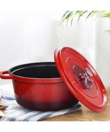 Delandun Pre-Seasoned Enameled Cast Iron Dutch Oven - 6.8Quart Pot with ... - $69.35