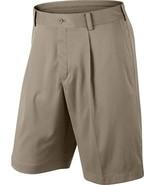 Nike Men's Tour Pleat Stretch Golf Shorts 509180 Khaki Standard Fit 32 - $35.96