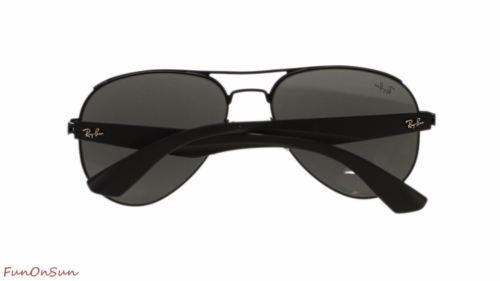 62c00048f8 Ray Ban Mens Sunglasses RB3523 006 6G Matte Black Grey Silver Mirror Lens  59mm