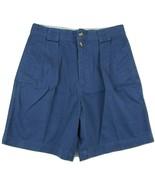 "Tommy Hilfiger Blue Pleated Shorts Men's W30 Inseam 7"" 100% Cotton - $22.28"