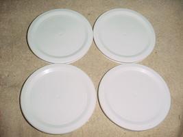 Corning Ware White 7 Oz Ramekin R-7-PC Replacement Plastic Lids x4 Free Usa Ship - $14.01
