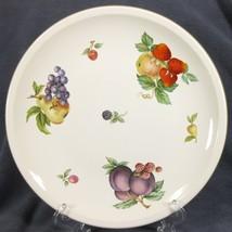 Wedgwood Fruit Sprays Croft Dinner Plates Rim Shape England (Q2) - $49.95