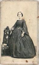Persis Jane Eveleth wife of Joshua Frost Tannatt CDV Photo - Springfiel... - $19.75