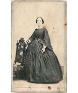 Persis Jane Eveleth wife of Joshua Frost Tannatt CDV Photo - Springfield MA - $19.75