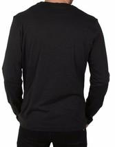 Versace Jeans Men's Logo Mix Giada L/S Black Tee NWT image 2