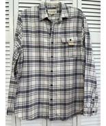 Denim & Supply Ralph Lauren Button Plaid Flannel Field Shirt Shoulder Pa... - $29.69