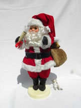 Rennoc Animated Motionette Christmas Santa Claus Red Suit, Candle, Toys ... - $39.99
