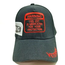 Veteran Humor Warning Embroidered Hat Cap Black Acrylic Adjustable Strap... - $8.90