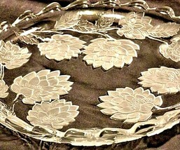 Vintage heavy etched glass serving plate designs AA19-LD11918 image 2