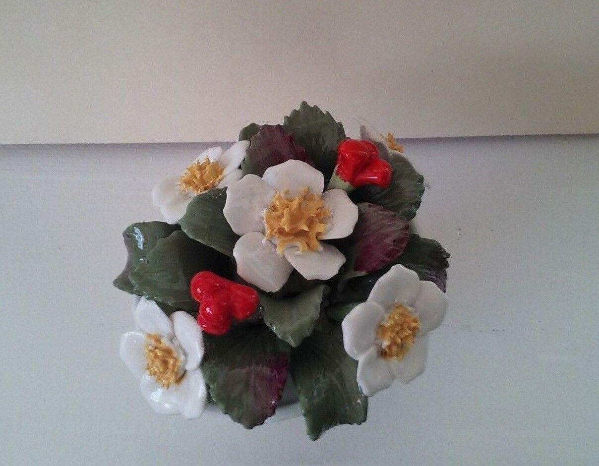 Vintage Aynsley Bone China December Christmas Rose Basket hand painted bouquet image 5