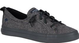 Sperry Top-Sider Damen Crest Vibe Tweed Dunkelgrau Slip-On Sneaker Schuhe Ovp