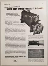1949 Print Ad Wixkuler Marine Engine Coolers Monel International Nickel NY - $14.83