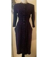 Karin Stevens Vintage Dress 80s/90s Sz 4 Button Down - $30.48