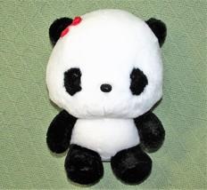 """9"""" ANIME PANDA Plush Japanese Stuffed Animal DOll Toy Black White RED BO... - $18.70"""