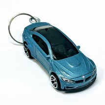 Hot Wheels Factory Fresh 8/10 Blue BMW M4 1:64 Diecast Keychain Gift DVB... - $9.69