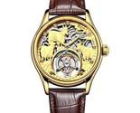 Skeleton Tourbillon Wristwatch with 3D Microcarving, Premium Mechanical Watch - £839.78 GBP