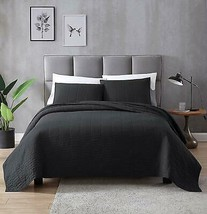 EXQ Home Quilt Set Twin Size Black 2 Piece,Lightweight Microfiber Coverl... - $65.99+