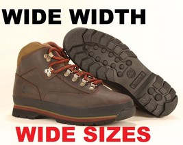 Wide Timberland Men's Classic Leather Euro Hiker Brown Ankle Shoes Boots #6534A - $118.99